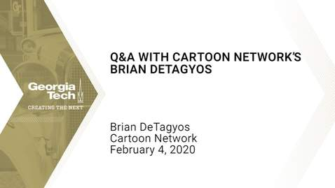 Thumbnail for entry Brian de Tagyos - Q&A with Cartoon Network's Brian de Tagyos
