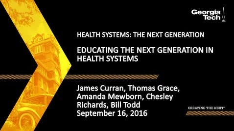 Thumbnail for entry Educating the Next Generation in Health Systems (Panel 2)