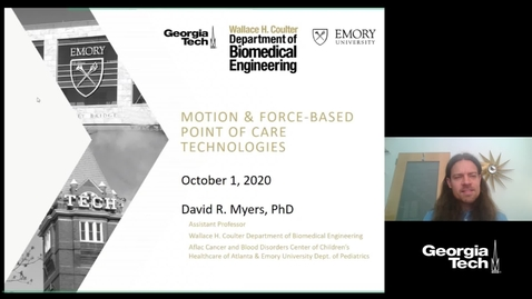 Thumbnail for entry David R. Myers - Motion and Force-based Point of Care Technologies