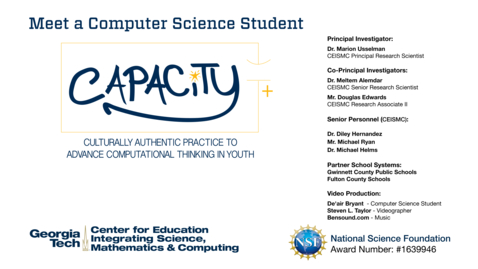 Thumbnail for entry De'aira Bryant - Meet a Computer Science Student