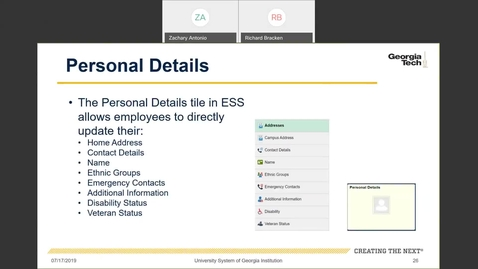 Thumbnail for entry Introduction to Employee Self-Service and Faculty Self-Service--ESS Tiles: Personal Details