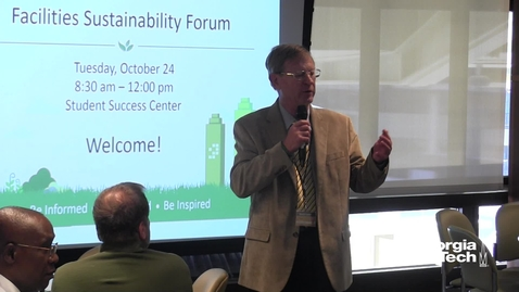Thumbnail for entry Facilities Sustainability Forum Welcome Address - Chuck Rhode