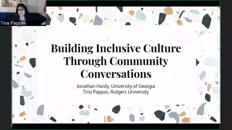 Thumbnail for entry Building Inclusive Culture Through Community Conversations
