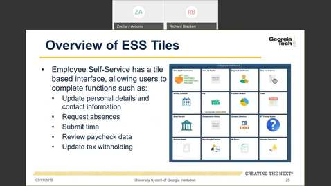 Thumbnail for entry Introduction to Employee Self-Service and Faculty Self-Service -- Employee Self Service Tiles