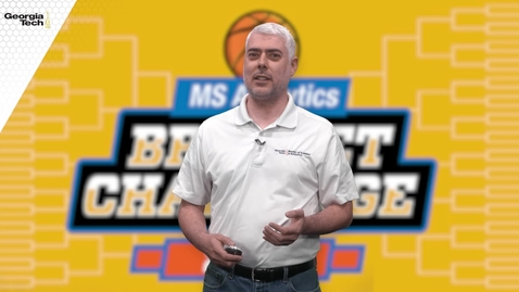 Thumbnail for entry Online Master of Science in Analytics Bracket Challenge
