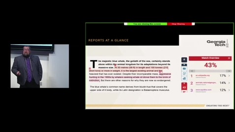 Thumbnail for entry Plagiarism Prevention and Education with Turnitin