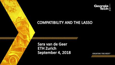 Thumbnail for entry Sara van de Geer - Compatibility and the Lasso