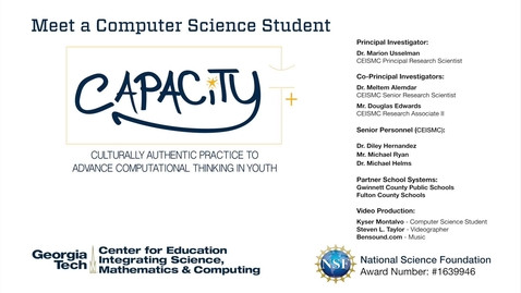 Thumbnail for entry Kyser Montalvo - Meet Computer Science Student