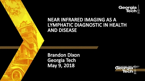 Thumbnail for entry Near infrared imaging as a lymphatic diagnostic in health and disease - Brandon Dixon