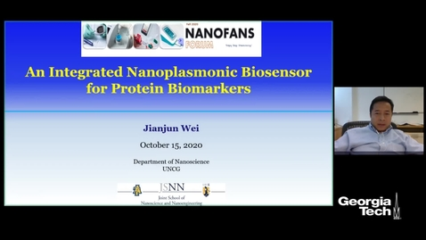 Thumbnail for entry Jianjun Wei - Integrated Nanoplasmonic Biosensors for Protein Biomarkers