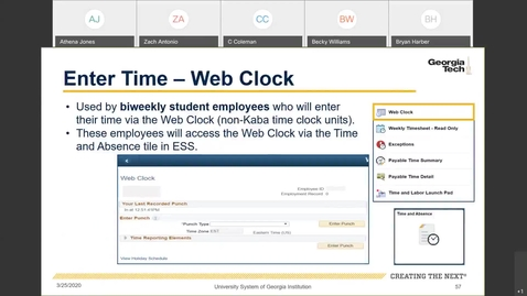 Thumbnail for entry Introduction To Employee Self Service -- Time Entry in ESS: Web Clock