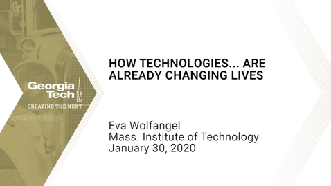 Thumbnail for entry Eva Wolfangel - How Technologies... Are Already Changing Lives