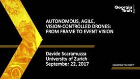 Thumbnail for entry Autonomous, Agile, Vision-controlled Drones: From Frame to Event Vision - Davide Scaramuzza