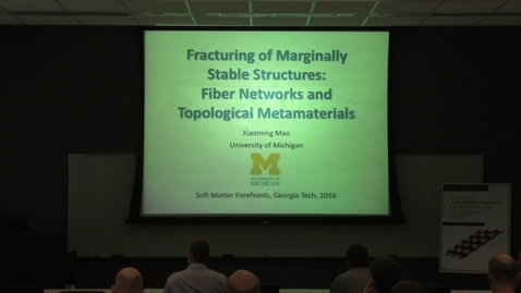 Thumbnail for entry Fracturing of marginally stable structures: fiber networks and topological metamaterials - Xiaoming Mao