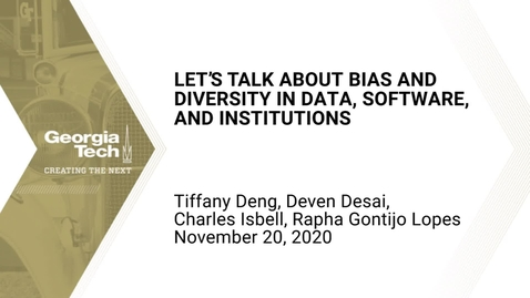 Thumbnail for entry Let's Talk About Bias and Diversity in Data, Software, and Institutions