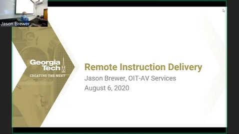 Thumbnail for entry GT Remote Instruction AV Overview