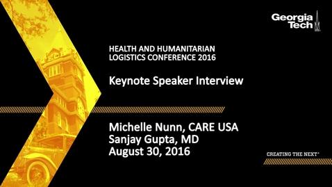 Thumbnail for entry Keynote Speaker Interview, Sanjay Gupta, Michelle Nunn