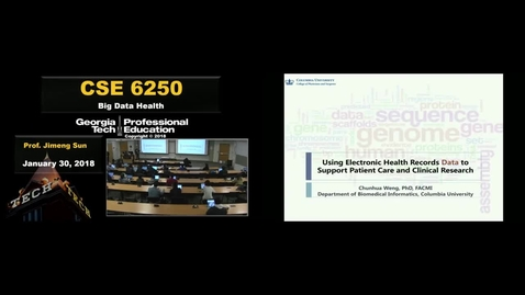 Thumbnail for entry Using Electronic Health Records to Support Patient Care and Clinical Research - Chunhua Weng