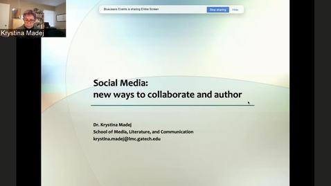 Thumbnail for entry Krystina Madej — Bringing Narrative Authoring into Social Media