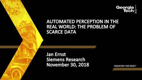 Thumbnail for entry Jan Ernst - Automated Perception in the Real World: The Problem of Scarce Data