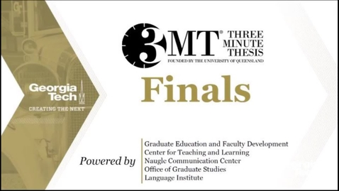 Thumbnail for entry 3MT Three Minute Thesis Finals 2021