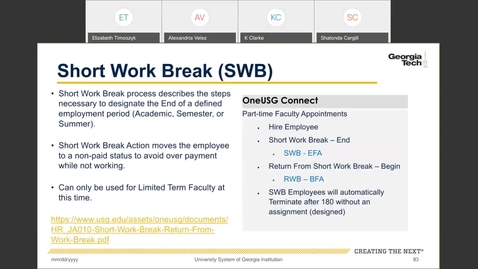 Thumbnail for entry Workforce Administration -- Short Work Break