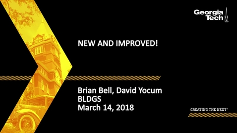 Thumbnail for entry New and Improved! - Brian Bell, David Yocum