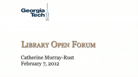 Thumbnail for entry 2-7-2012 Library Open Forum
