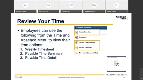 Thumbnail for entry Introduction To Employee Self Service -- Time Entry in ESS: Review Your Time