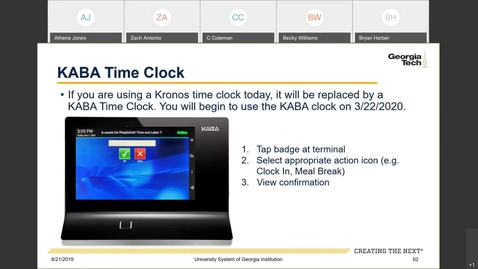Thumbnail for entry Introduction To Employee Self Service -- Time Entry in ESS: KABA Time Clock