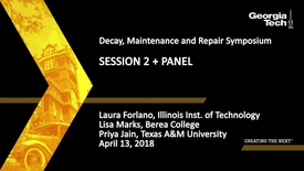 Thumbnail for entry Decay, Maintenance and Repair Symposium Session 2 and Panel - Laura Forlano, Lisa Marks, Priya Jain