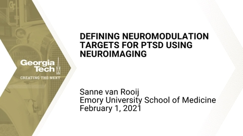 Thumbnail for entry Sanne van Rooij - Defining neuromodulation targets for PTSD using neuroimaging