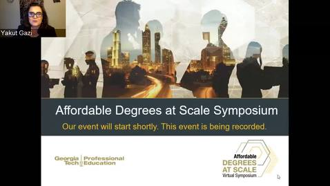 Thumbnail for entry Affordable Degrees At Scale Symposium