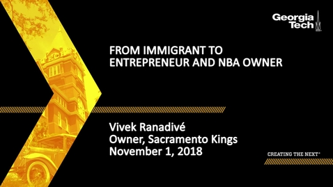Thumbnail for entry Vivek Ranadivé - From Immigrant to Entrepreneur and NBA Owner