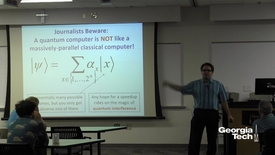 Thumbnail for entry Black Holes, Firewalls, and the Limits of Quantum Computers - Scott Aaronson