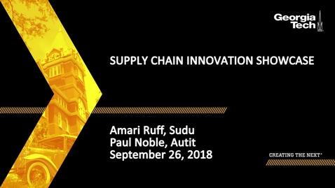 Thumbnail for entry Supply Chain Innovation Showcase - Amari Ruff, Paul Noble