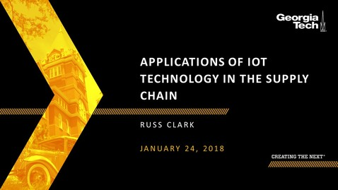 Thumbnail for entry Applications of IOT Technology in the Supply Chain - Russell Clark