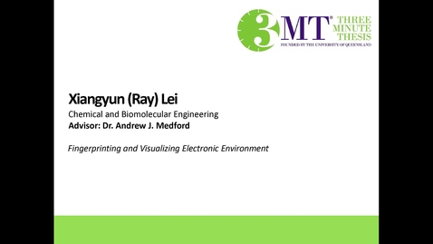 Thumbnail for entry Xiangyun Lei - Fingerprinting and Visualizing Electronic Environment