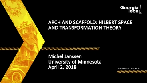 Thumbnail for entry Arch and scaffold: Hilbert space and transformation theory - Michel Janssen