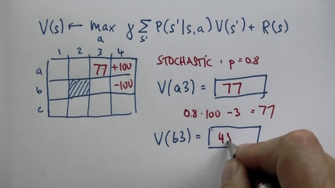 Thumbnail for entry CS6601_10. Planning under Uncertaint_Stochastic Question 2_ANS
