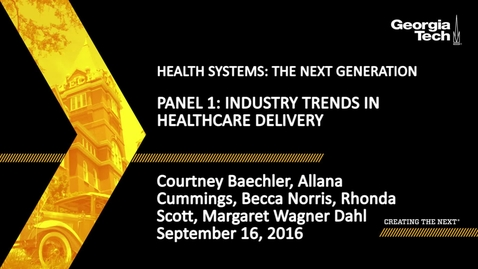 Thumbnail for entry Industry Trends in Healthcare Deliver (Panel 1)