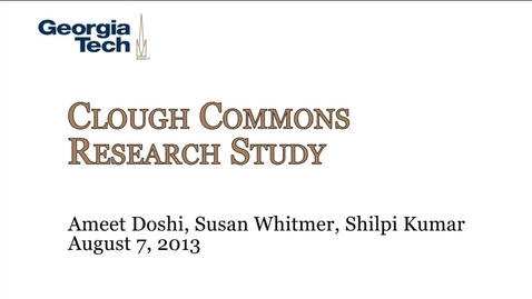 Thumbnail for entry Clough Commons Research Study - Ameet Doshi et al