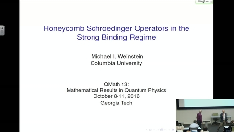 Thumbnail for entry Honeycomb Schroedinger Operators in the Strong Binding Regime - Michael Weinstein