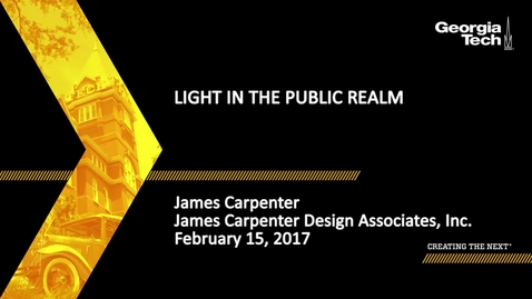 Thumbnail for entry Light in the Public Realm - James Carpenter
