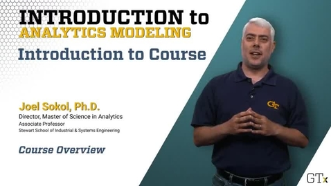 Introduction Analytics Modeling