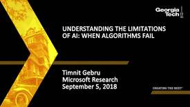 Thumbnail for entry Timnit Gebru - Understanding the limitations of AI: When Algorithms Fail