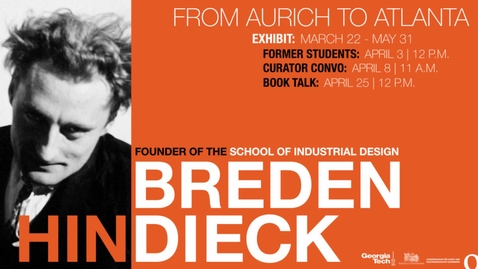 Thumbnail for entry Curator Conversation: Hin Bredendieck: From Aurich to Atlanta
