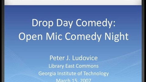 Thumbnail for entry Pete Ludovice - Drop Day Comedy - Open Mic Comedy Night