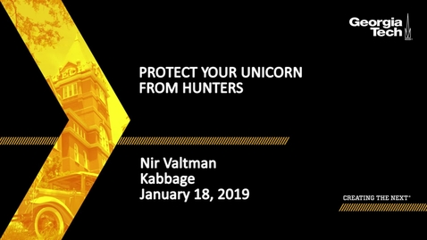 Thumbnail for entry Nir Valtman - Protect Your Unicorn From Hunters