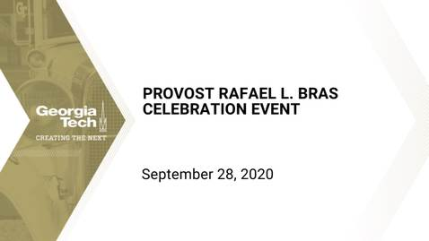 Thumbnail for entry Provost Rafael Bras Celebration Event